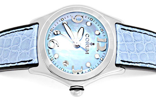 Foto 1, Corum Bubble Damen Medium Perlmutt ST Ungetragen Topuhr, U1455
