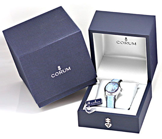 Foto 6, Corum Bubble Damen Medium Perlmutt ST Ungetragen Topuhr, U1455
