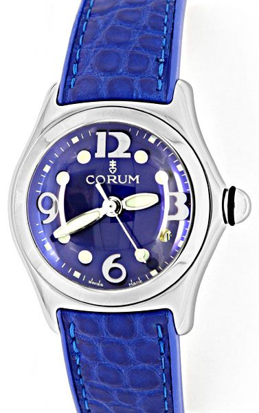 Foto 3, Corum Bubble Damen Medium Königsblau, Ungetragen Topuhr, U1456