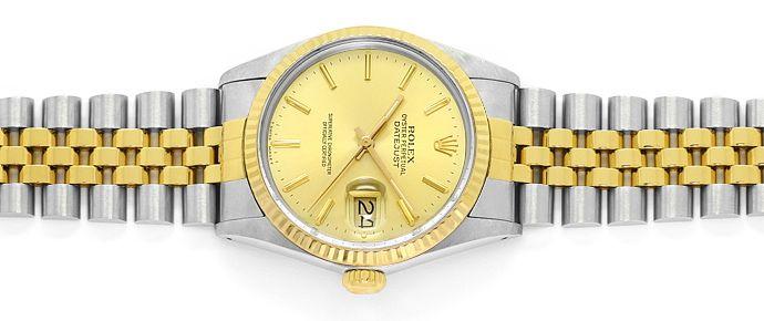 Foto 1, Rolex Datejust Herren Uhr in Stahl Gold, Spitzenzustand, U1460