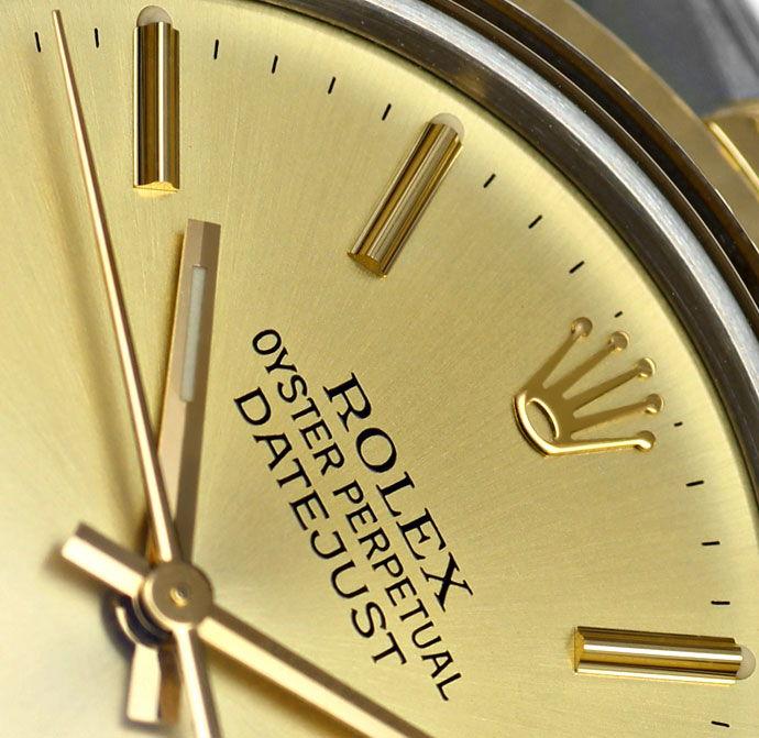 Foto 3, Rolex Datejust Herren Uhr in Stahl Gold, Spitzenzustand, U1460
