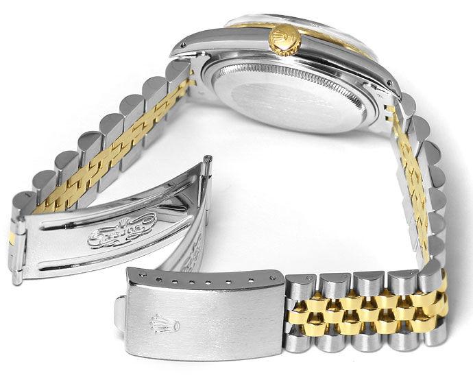Foto 5, Rolex Datejust Herren Uhr in Stahl Gold, Spitzenzustand, U1460