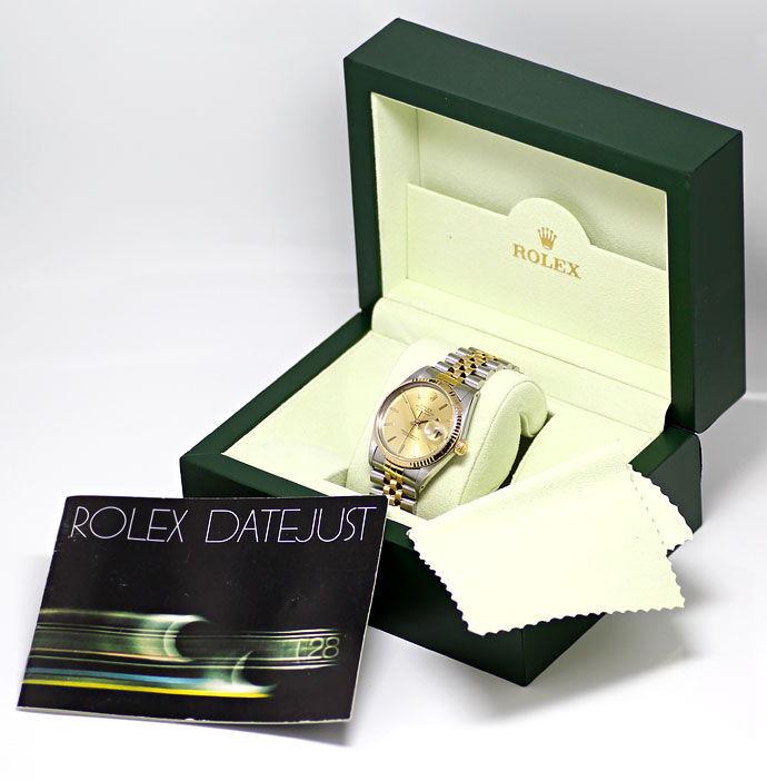 Foto 6, Rolex Datejust Herren Uhr in Stahl Gold, Spitzenzustand, U1460