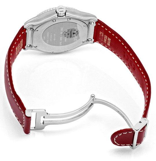 Foto 5, Ebel Discovery Rot Stahl Lederband Herrenuhr Ungetragen, U1467