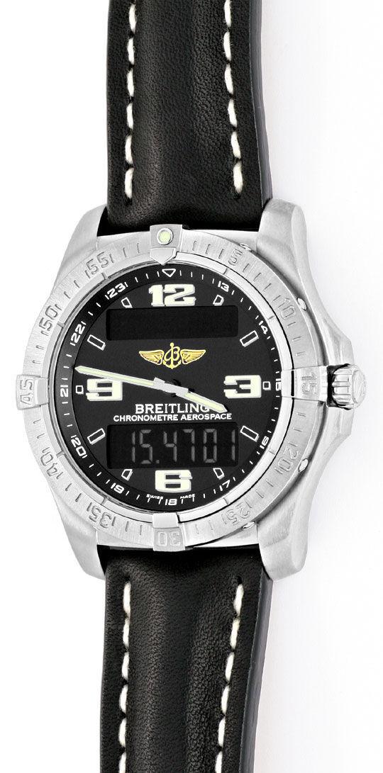 Foto 2, Breitling Aerospace Chronograph Titan Ungetragen Topuhr, U1483