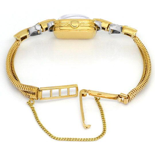 Foto 4, antike Art Deco Armbanduhr Diamanten Rubine Gold Platin, U1496