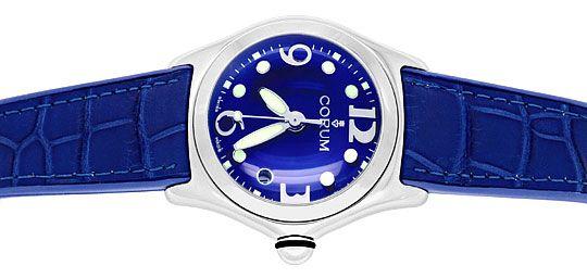 Foto 1, Corum Bubble Medium Uhr Koenigs Blau, Stahl, Ungetragen, U1499
