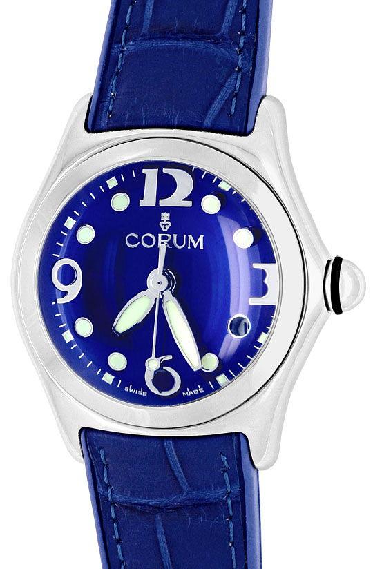Foto 2, Corum Bubble Medium Uhr Koenigs Blau, Stahl, Ungetragen, U1499