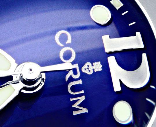 Foto 3, Corum Bubble Medium Uhr Koenigs Blau, Stahl, Ungetragen, U1499