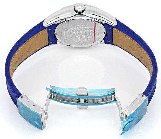 Foto 5, Corum Bubble Medium Uhr Koenigs Blau, Stahl, Ungetragen, U1499