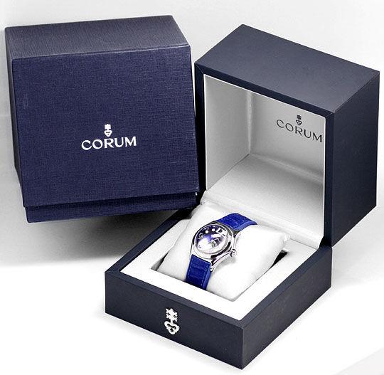 Foto 6, Corum Bubble Königsblau Medium Uhr Edelstahl Ungetragen, U1500