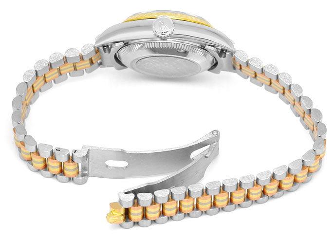Foto 6, Rolex Tridor Lady Datejust Diamant Zifferblatt Neuzust., U1503