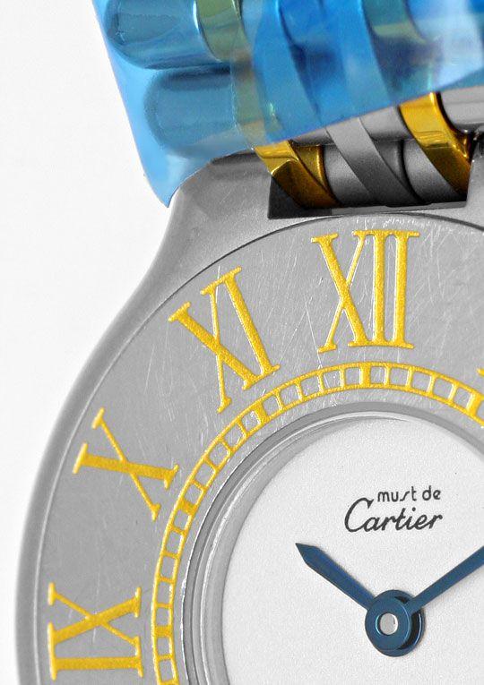 Foto 3, Cartier 21 Must.de Cartier Montre 21 Damenuhr Stahlgold, U1504