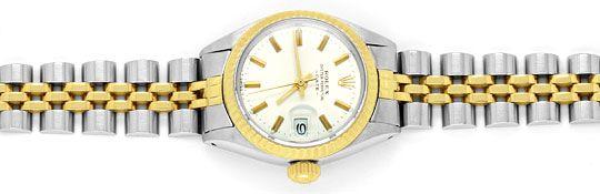 Foto 1, Rolex Date Damen Armbanduhr Stahlgold Automatik Jubilee, U1511