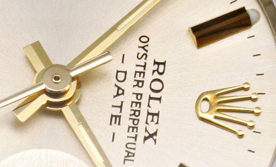 Foto 3, Rolex Date Damen Armbanduhr Stahlgold Automatik Jubilee, U1511