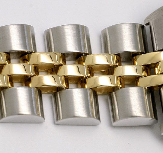 Foto 4, Rolex Date Damen Armbanduhr Stahlgold Automatik Jubilee, U1511