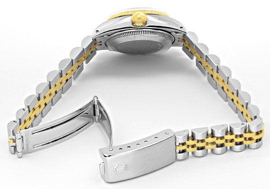 Foto 5, Rolex Date Damen Armbanduhr Stahlgold Automatik Jubilee, U1511