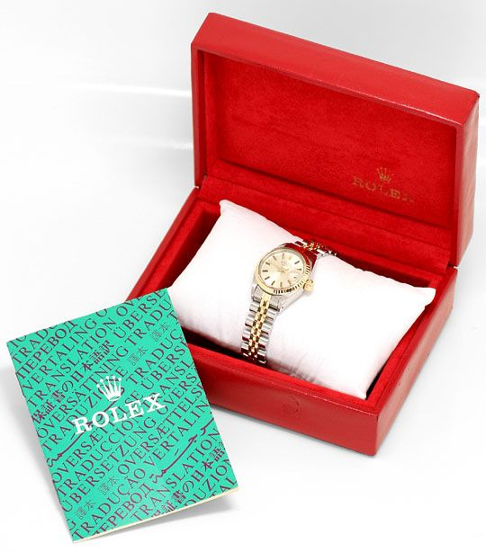 Foto 6, Rolex Date Damen Armbanduhr Stahlgold Automatik Jubilee, U1511