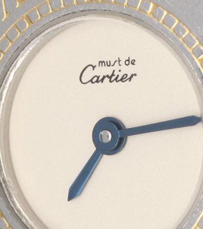 Foto 3, Cartier 21 Must.de Cartier Stahl Gold Damen Armband Uhr, U1519