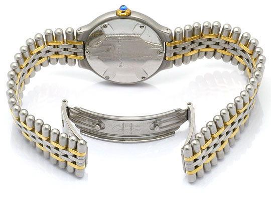 Foto 5, Cartier 21 Must.de Cartier Stahl Gold Damen Armband Uhr, U1519