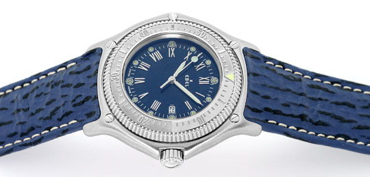 Foto 1, Ebel Disovery Blaues Haifischband Herren Uhr Ungetragen, U1531