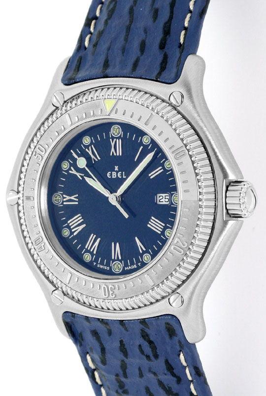 Foto 2, Ebel Disovery Blaues Haifischband Herren Uhr Ungetragen, U1531