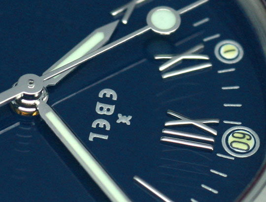 Foto 3, Ebel Disovery Blaues Haifischband Herren Uhr Ungetragen, U1531