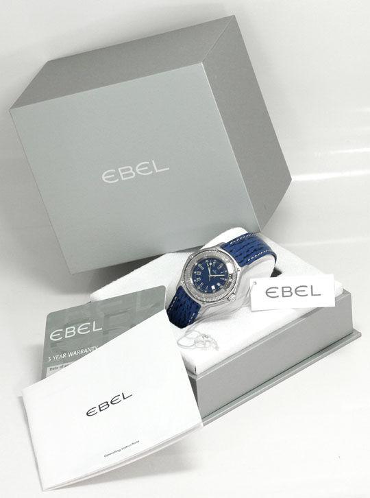 Foto 6, Ebel Disovery Blaues Haifischband Herren Uhr Ungetragen, U1531