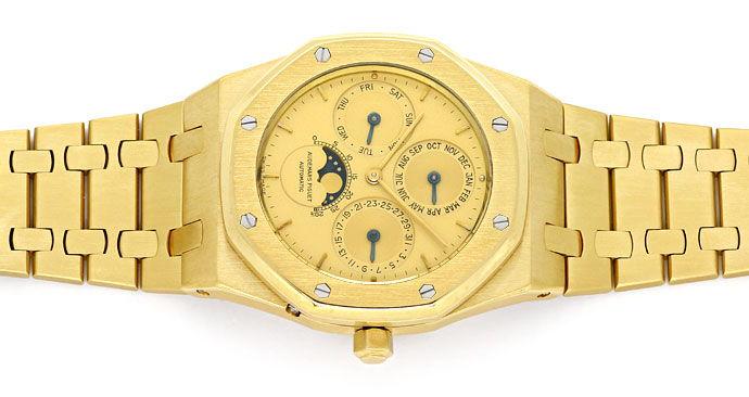 Foto 1, Audemars Piguet Royal Oak Mond ewiger Kalender Gold Uhr, U1541