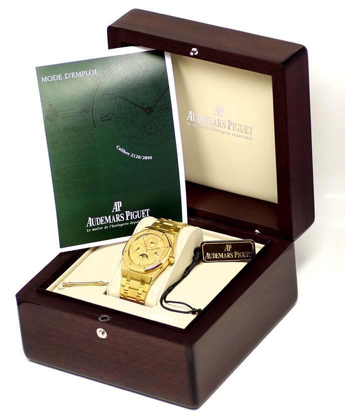 Foto 6, Audemars Piguet Royal Oak Mond ewiger Kalender Gold Uhr, U1541