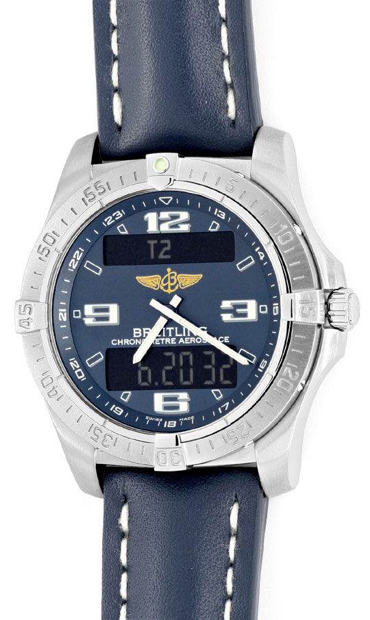 Foto 2, Breitling Aerospace Titan Chronograph Ungetragen Topuhr, U1554