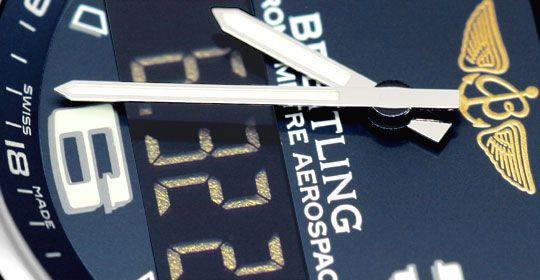 Foto 3, Breitling Aerospace Titan Chronograph Ungetragen Topuhr, U1554