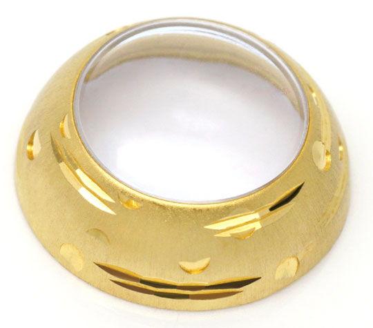Foto 6, Gold Kugel Anhäger Uhr Emaille Goldkette Rar 18K Topuhr, U1558