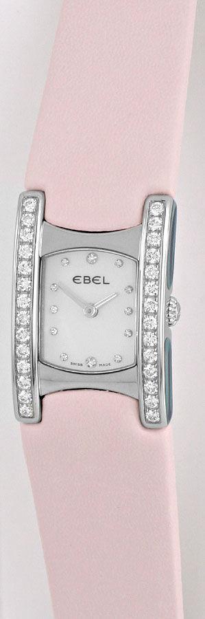 Foto 2, Ebel Beluga Manchette Uhr Diamanten Perlmutt Ungetragen, U1560