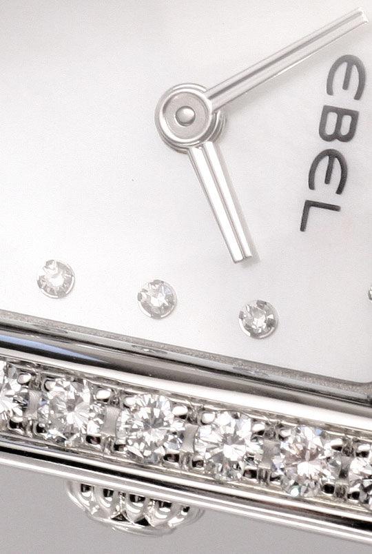 Foto 3, Ebel Beluga Manchette Uhr Diamanten Perlmutt Ungetragen, U1560