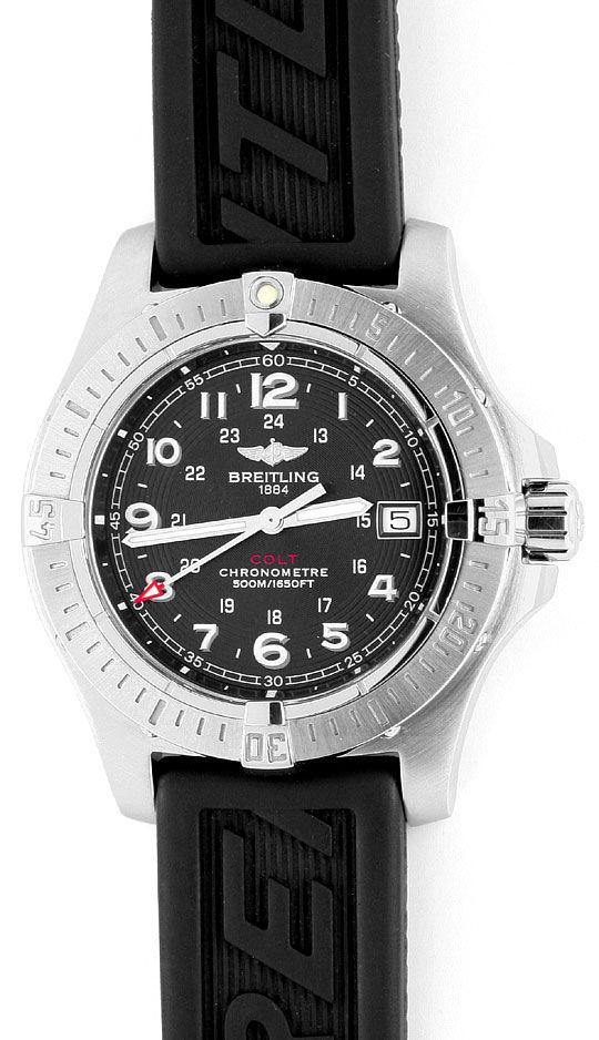 Foto 2, Breitling Colt Edelstahl DiverPro Chronometer Herrenuhr, U1569