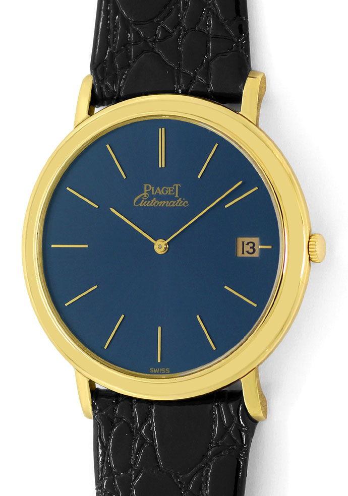 Foto 2, Welt Flachste Automatik Uhr Piaget Gelb Gold Gold Rotor, U1572