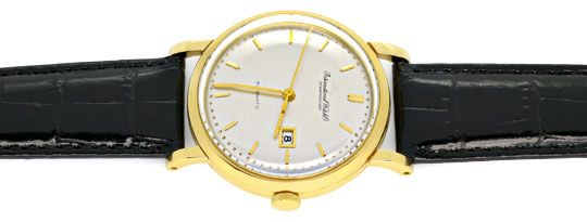 Foto 1, IWC Gold Herren Armbanduhr antik Automatik Datum Topuhr, U1587