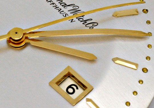 Foto 3, IWC Gold Herren Armbanduhr antik Automatik Datum Topuhr, U1587