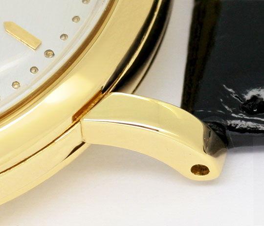 Foto 4, IWC Gold Herren Armbanduhr antik Automatik Datum Topuhr, U1587
