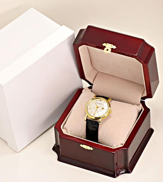 Foto 8, IWC Gold Herren Armbanduhr antik Automatik Datum Topuhr, U1587
