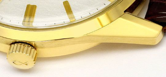 Foto 4 - IWC International Watch Co Herrenuhr 18K Gelbgold Kroko, U1588