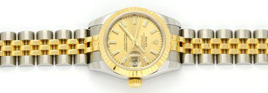 Foto 1, Rolex Datejust Damen Uhr Stahlgold Automatik Ungetragen, U1595