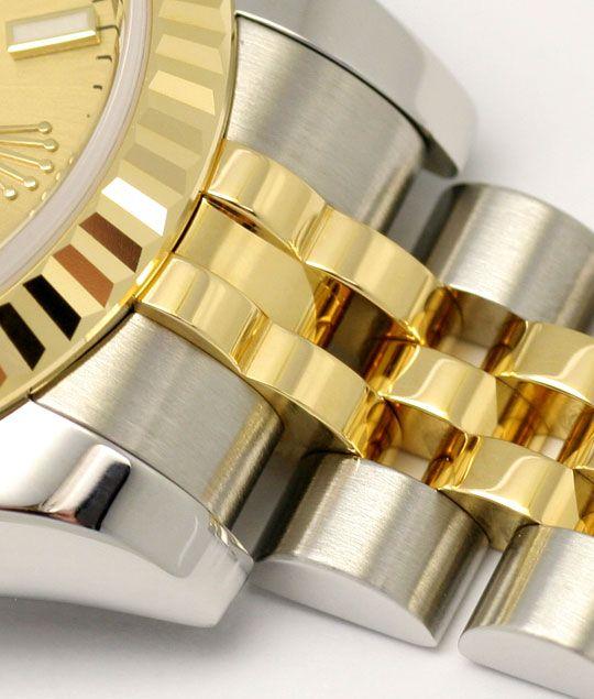 Foto 4, Rolex Datejust Damen Uhr Stahlgold Automatik Ungetragen, U1595