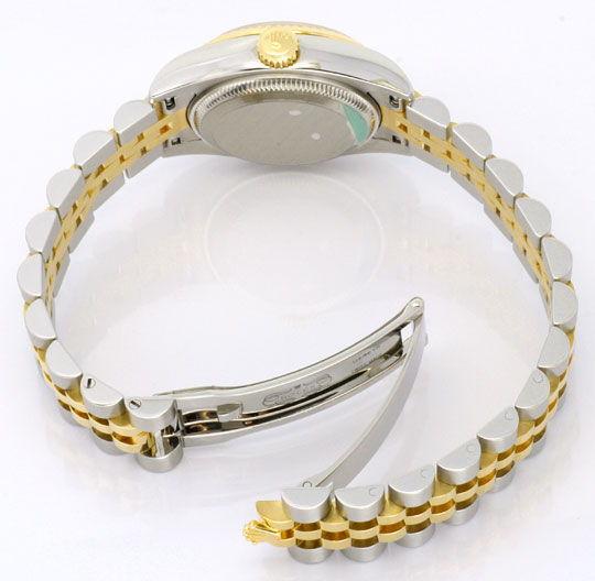 Foto 5, Rolex Datejust Damen Uhr Stahlgold Automatik Ungetragen, U1595