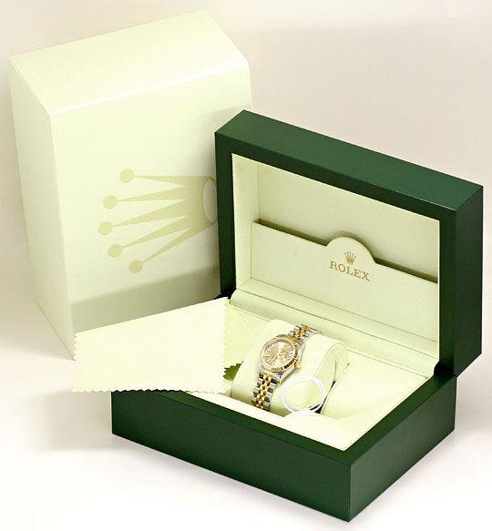 Foto 6, Rolex Datejust Damen Uhr Stahlgold Automatik Ungetragen, U1595