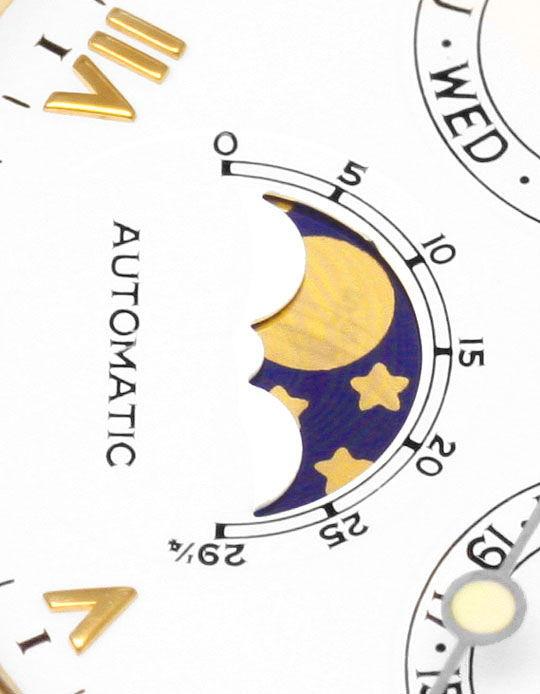 Foto 3, Chopard Luna D'doro Datum Wochentag Mondphase Herrenuhr, U1607