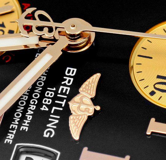 Foto 3, Breitling Chrono Cockpit, Gold Lünette Kroko Ungetragen, U1610