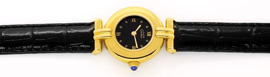 Foto 1, Cartier Colisee Damenuhr Sterling Silber Gold Vermeille, U1620