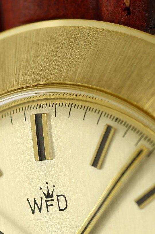 Foto 3, Herrenuhr in Extrem massiv Gelbgold 14K Automatik Datum, U1623